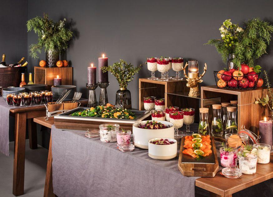 Vega Dekoration Gastronomie Hotellerie Holzwürfel Holma Grundbox Montana Holzbrett Laredo skandinavisches Weihnachten