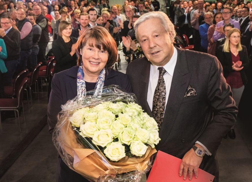 Susanne Veltins Geschäftsführerin 25 Jahre Silberjubiläum Generalbevollmächtigter Michael Huber Bier Brauerei