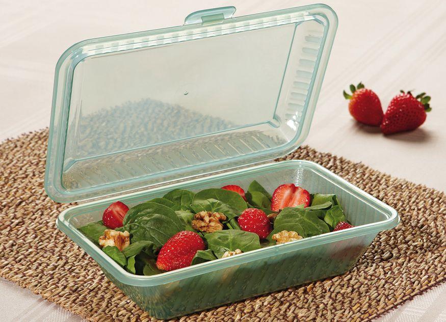 Frilich Gastronomie Boxen-System Eco-Takeouts Fassungsvermögen hoch flach