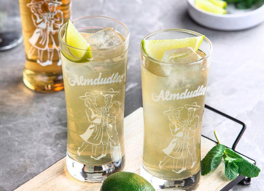 Almdudler Gastronomie Rezept Getränk Almjodler Lime Juice Wodka