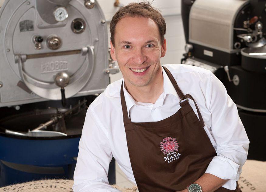 Maya Kaffee 1991 Geschäftsführer Inhaber Richard Galbavy TÜV Zertifizierung klimaneutrales Unternehmen