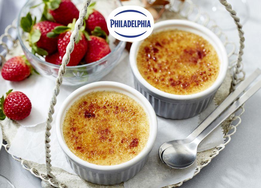 Crème-Brulée Cheesecake Philadelphia Professional