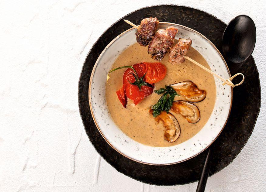 Wiberg Rezept Suppe Auberginencrèmesuppe Herbst Gastronomie gastrotel 5-2019