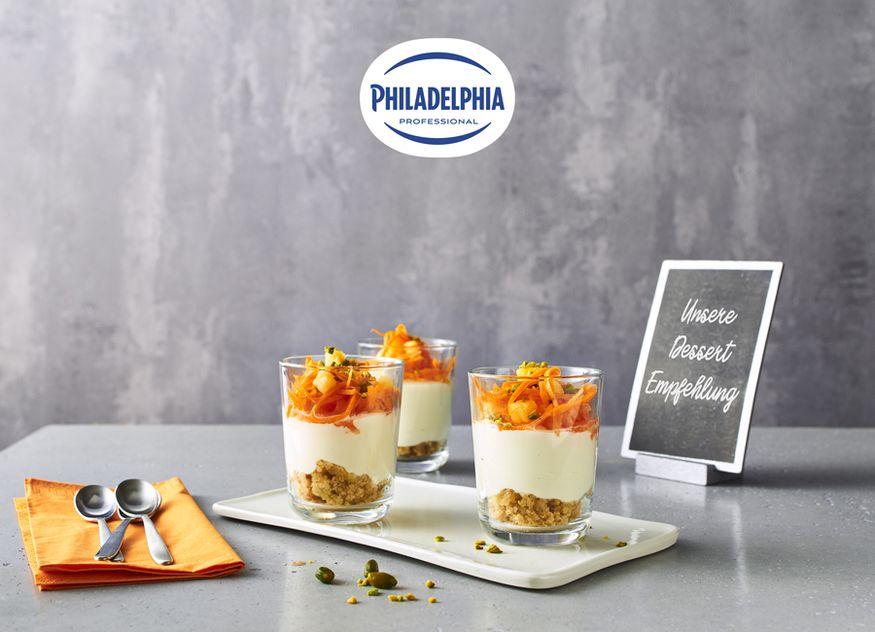 Die Carrot Cake Trifle ist das neue Highlight unter den Philadelphia-Desserts
