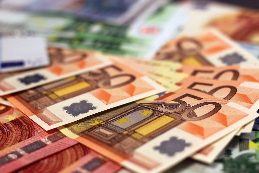 Geld Euros Scheine