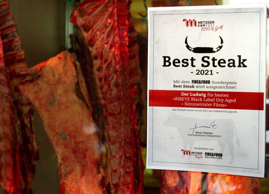 Das Dry Aged Ribeye Black Label von Dirk Ludwig wurde als bestes Steak Deutschland ausgezeichnet