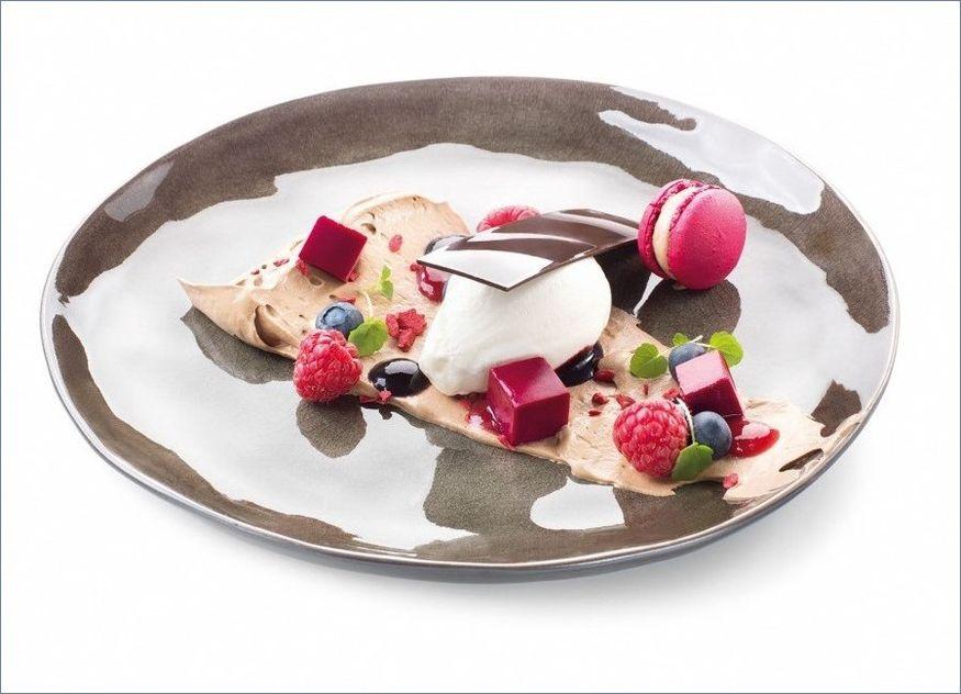 Debic Schokoladenmousse Rote-Bete-Tofu Zitrussahne