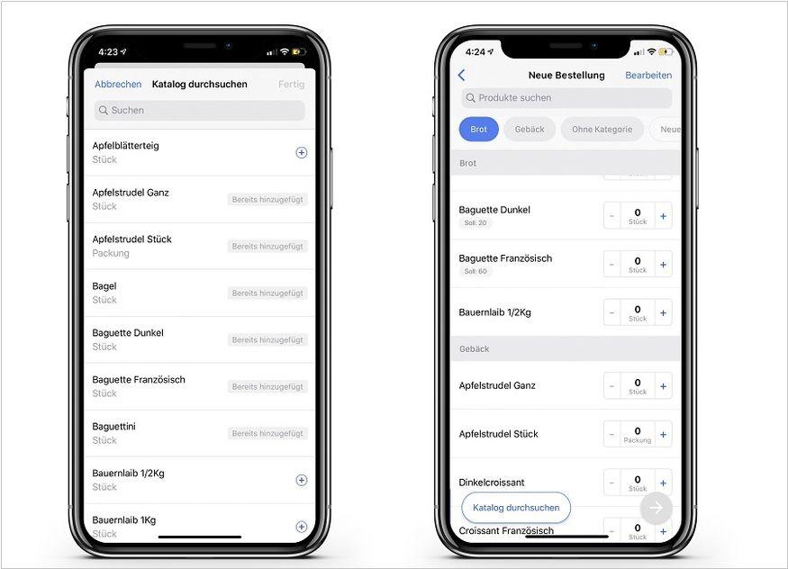 Choco App Bestellung Lieferung Profiküche