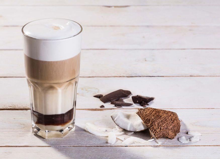 Lattiz Gastronomie Getränk Rezept Schokolade Kokos-Schokoladen-Latte Espresso