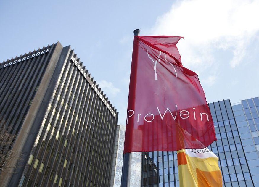 ProWein Fahne Messe Düsseldorf