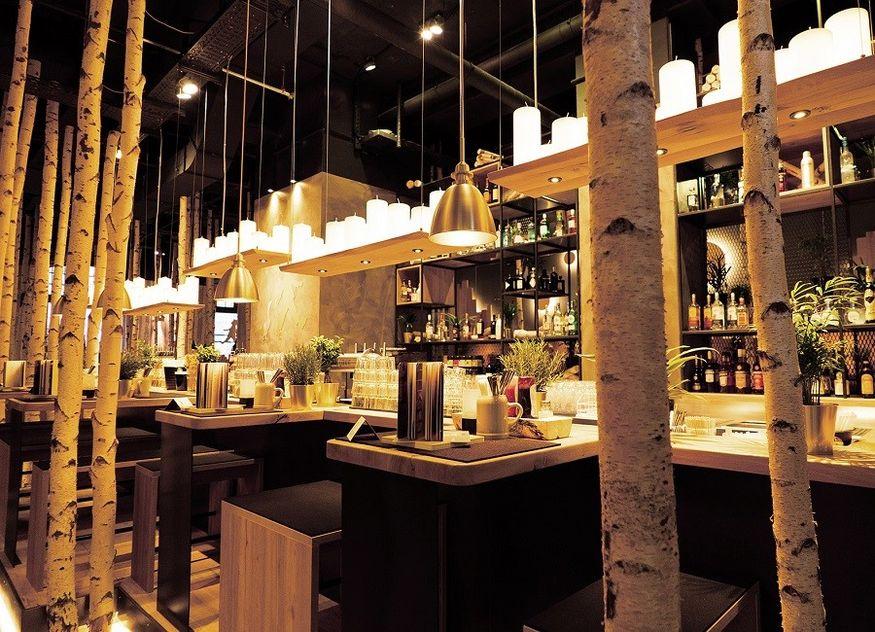 Hans im Glück Restaurant Tisch Birken