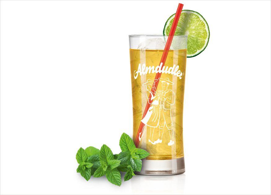 Almdudler Gastronomie Rezept Getränk alkoholfrei Almcaipi Minze Limette