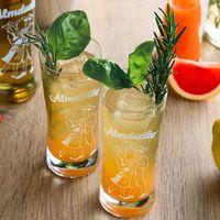 Almdudler Gastronomie Rezept Getränk Almsmash Basilikum Rosmarin Gin Zitrone Grapefruit