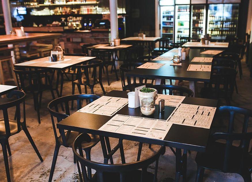Restaurant leer Essen