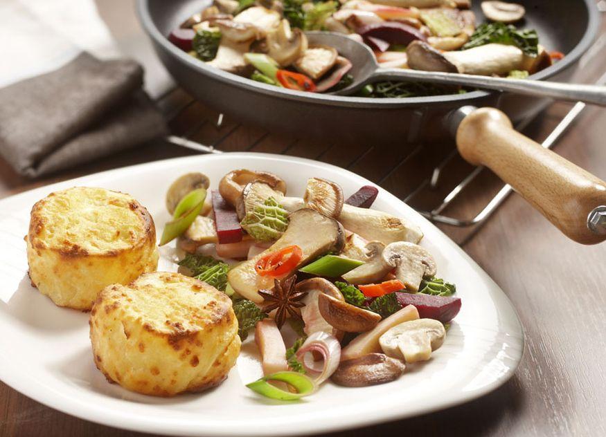 Aviko Rezept Pilzpfanne dreierlei Herbstgemüse Herbst Gemüse Kartoffelgratin