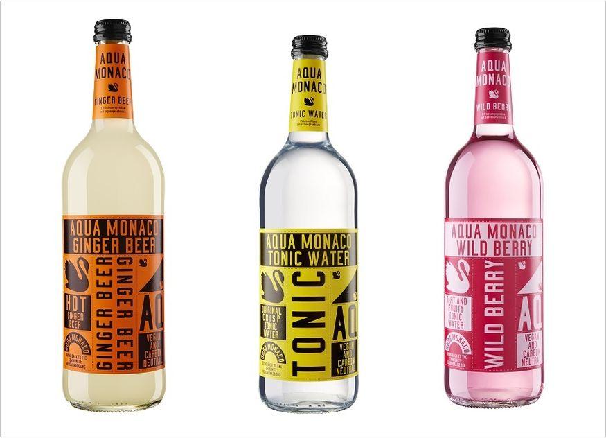 Aqua Monaco Ginger Beer Tonic Water Wild Berry