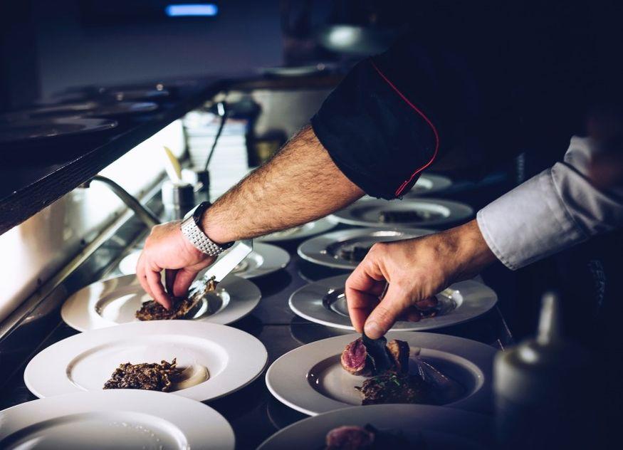 Koch anrichten Restaurant