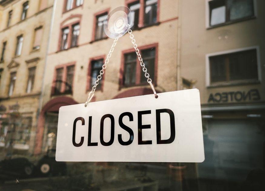 Schild geschlossen