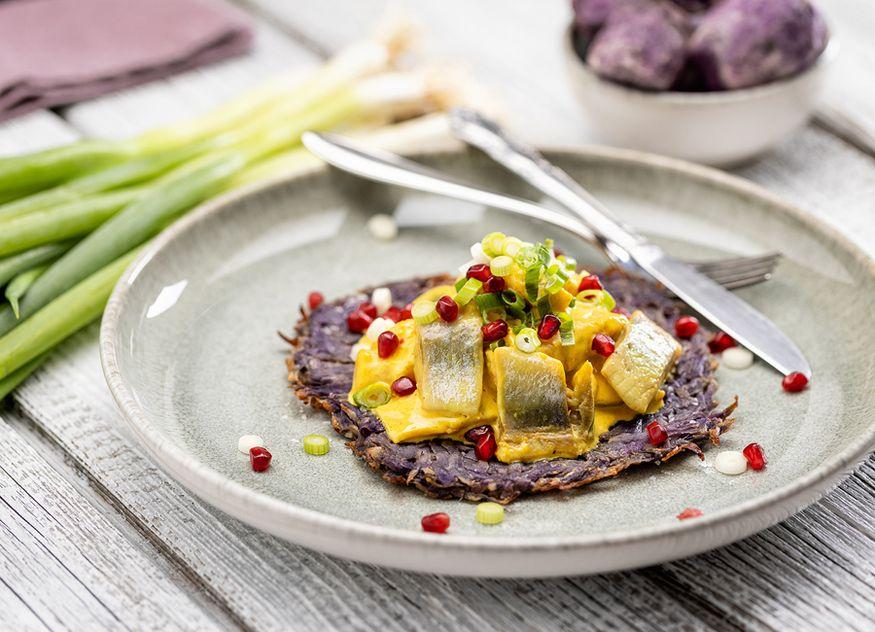 Die Heringshappen in Currysauce von Friesenkrone sind bereits servierfertig