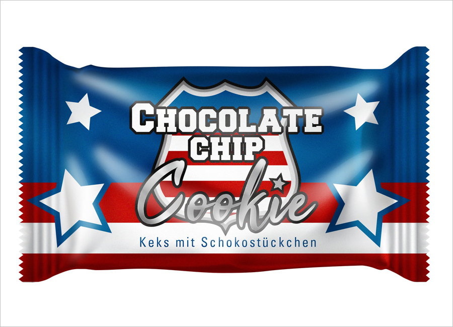 Hellma Gastronomie Chocolate Chip Cookie Keks Design amerikanisch Stil Flagge Union Jack