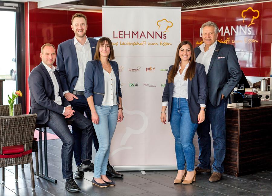 Die neue Führungsriege von Lehmanns Gastronomie (von links nach rechts): Michael Hartmann, Stefan Lehmann, Ivetta Mejssar, Teresa Buntić und Günther Lehmann