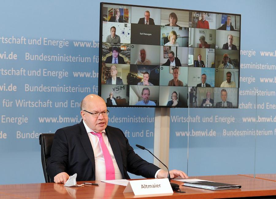 Bundesminister Peter Altmeier traf sich am gestrigen Donnerstag erneut mit 40 Vertretern deutscher Wirtschafts- und Branchenverbänden