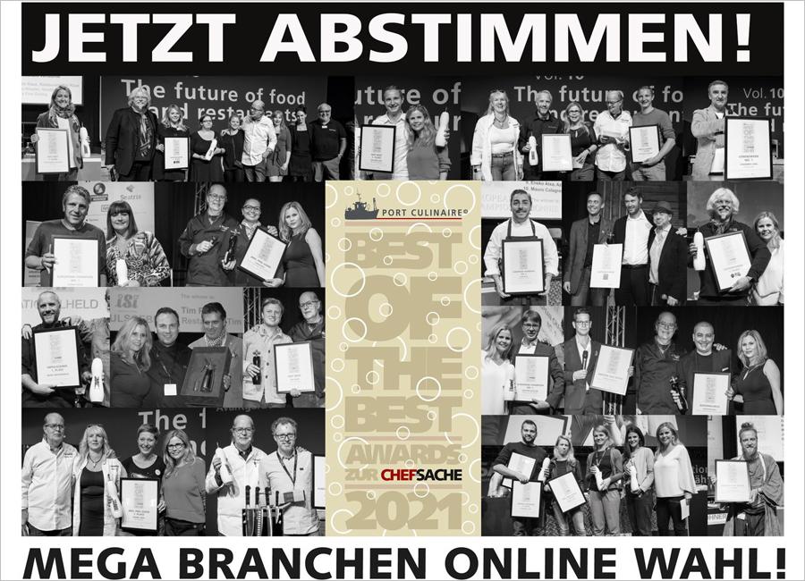 """Am 3. Oktober 2021 wird auf der Chef-Sache in Düsseldorf der Branchen-Oscar """"Best of the Best Awards"""" verliehen"""