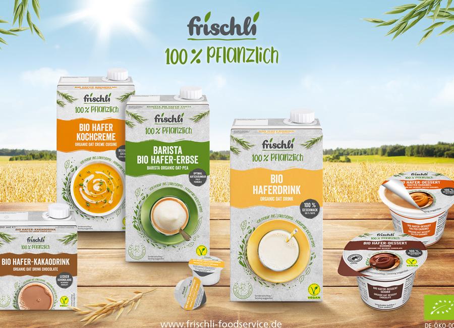 Die neuen frischli Milchersatzprodukte auf Hafer-Basis überzeugen auch durch Bio-Qualität