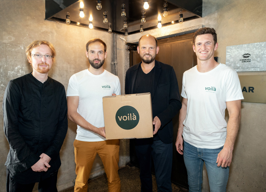 Mit der Home Fine Dining Plattform voilà sollen die Top Köche des Landes mit Food Lovern in ganz Europa verbunden werden