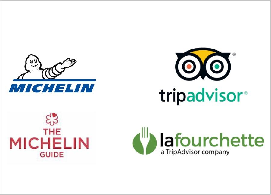 Michelin TripAdvisor Bookatable Thefork