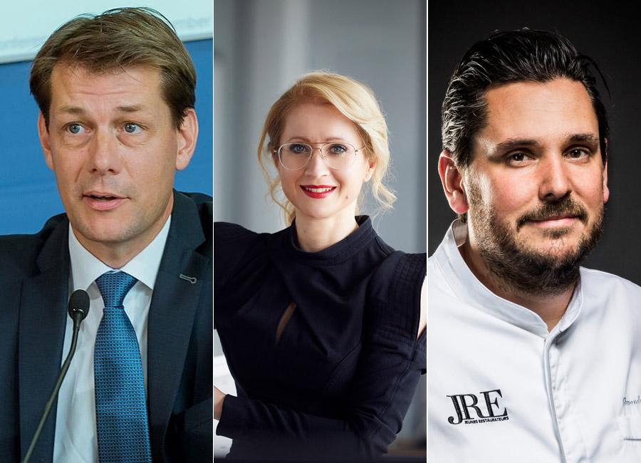 Guido Zöllick, Andrea Belegante und Alexander Huber