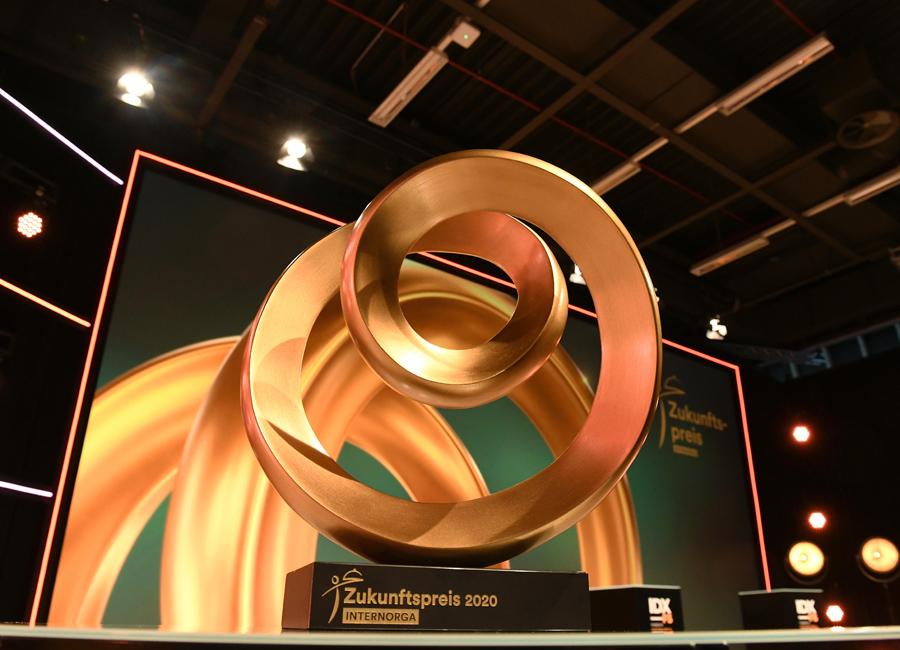 Im Rahmen der IDX_FS powered by Internorga wurde der Internorga Zukunftspreis 2020 in drei Kategorien vergeben. Die Preisverleihung fiel im März 2020 aufgrund der Pandemie aus / Foto: Hamburg Messe und Congress/Michael Zapf