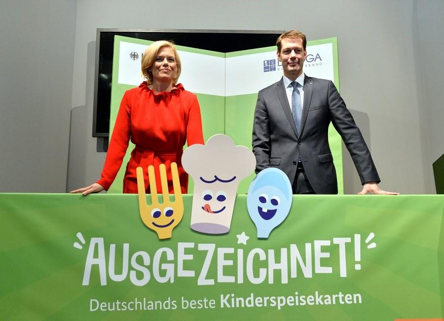 Bundesernährungsministerin Julia Klöckner DEHOGA-Präsident Guido Zöllick